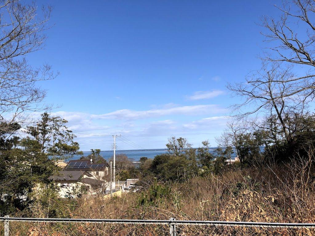 ほしいも神社駐車場からの景色
